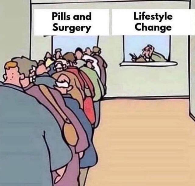Pill and surgery or lifestyle change