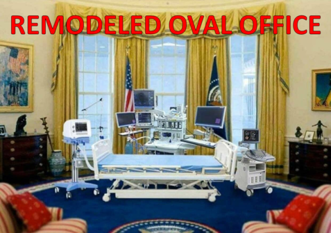 Joe Chiden's remodeled Oval Office