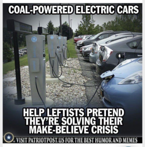 Coal powered electric cars.