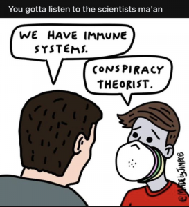 Immune systems are conspiracy theories