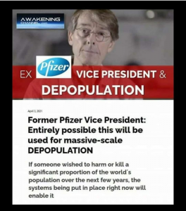 Ex Pfizer vice president - Mass Scale Depopulation.