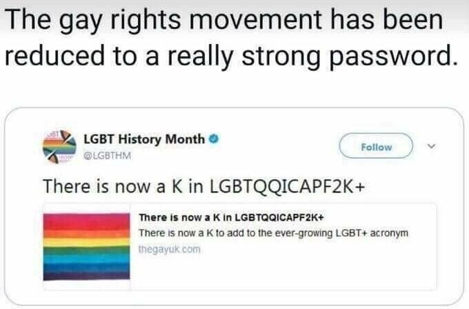 LGBTQ+ password